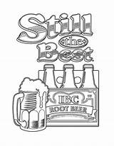 Beer Coloring Pages Root Still Tocolor Getcolorings Printable sketch template