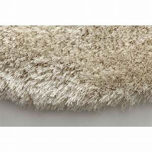 miliboo tapis shaggy rond blanc 150 cm ugo achat With tapis shaggy rond