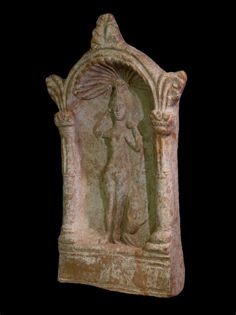 alexander ancient art  terracotta stela showing venus