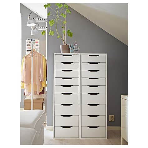 9 pull out organizer alex unit with 9 drawers white 36 x 116 cm ikea