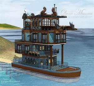Mod The Sims - Queen Minerva -Steampunk Boat - no cc-