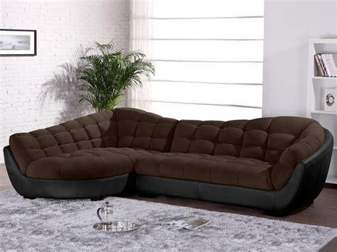 vente canapé cuir canapé d 39 angle droit tissu et cuir leandro canapé vente