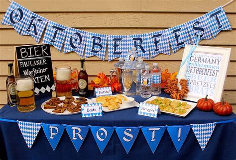 oktoberfest party decor printables  tips birthdays