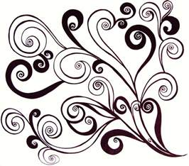 Swirl Designs Black and White Patterns