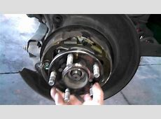 Rear wheel bearing hub assembly replacement 2009 Subaru