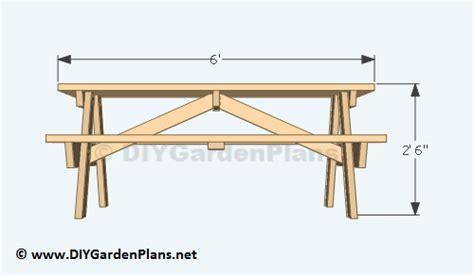 diy building plans   picnic table