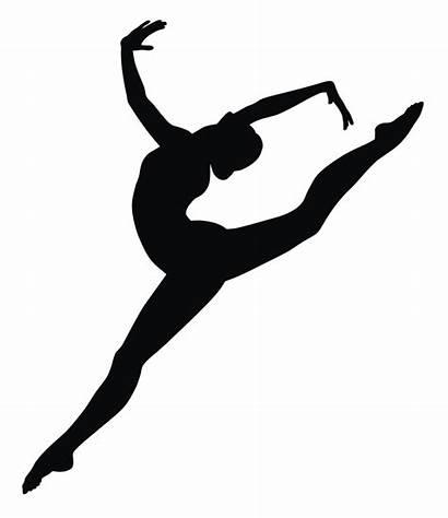 Dancer Silhouette Leap Clipart Arabesque Clip Ballet