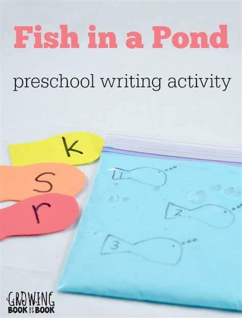 preschool writing activities fish in a pond activities 579   92bd1bd5af412a48152138adb37eb361