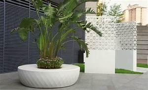 Pot De Fleur Design Interieur : jardins et terrasses idee jardin design grands pots de ~ Premium-room.com Idées de Décoration