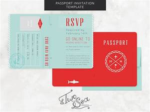 wedding passport invitation template by brittany zeller With passport invite template
