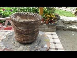 Pflanzen Kübel Beton : blumentopf aus beton in steinoptik selber basteln youtube beton pinterest garten deko ~ Markanthonyermac.com Haus und Dekorationen