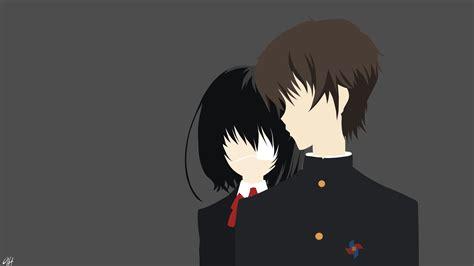 Another Anime Hd Wallpaper - misaki mei and kouichi sakakibara another hd