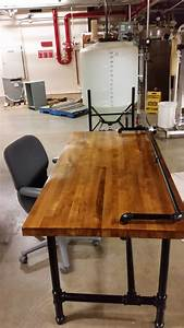 Möbel Aus Rohren : reclaimed butcher block workbench top converted to a desk ~ Michelbontemps.com Haus und Dekorationen