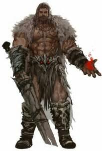 Barbarian Pathfinder Human Male