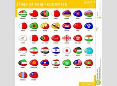 Flags Of Asia Royalty Free Stock Photo Image 16046185