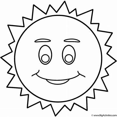 Coloring Sun Space Face Smiley Smile Pages