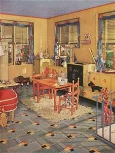 Küchen Vintage Style : 25 besten 1940s wallpaper floor bilder auf pinterest blumentapeten k chen und linoleumboden ~ Sanjose-hotels-ca.com Haus und Dekorationen