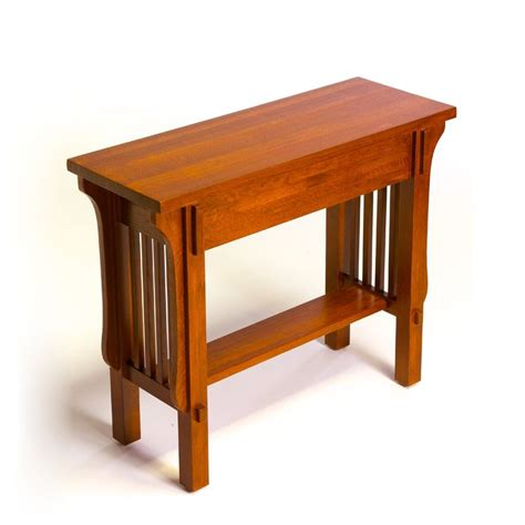 arts and crafts table ls arts crafts 9168 mission console entry table at atg