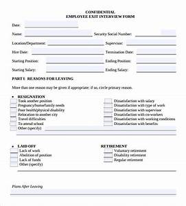 sample employee form 11 download documents in pdf With free employee exit interview template