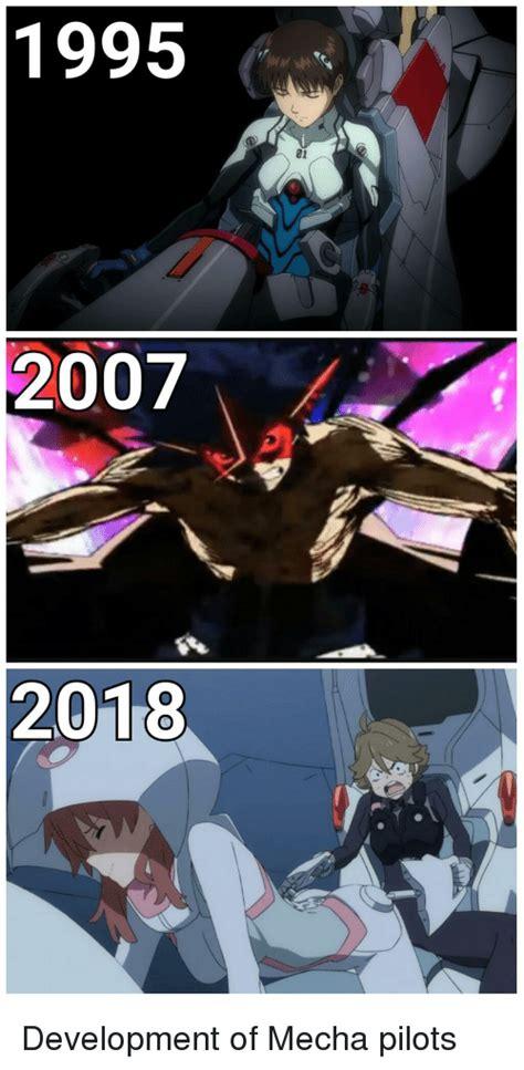Anime Memes 2018 - 1995 01 2007 2018 anime meme on me me