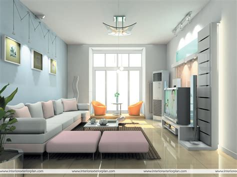 Home Interior Design Drawing Room by Interior Exterior Plan Artistic Living Room