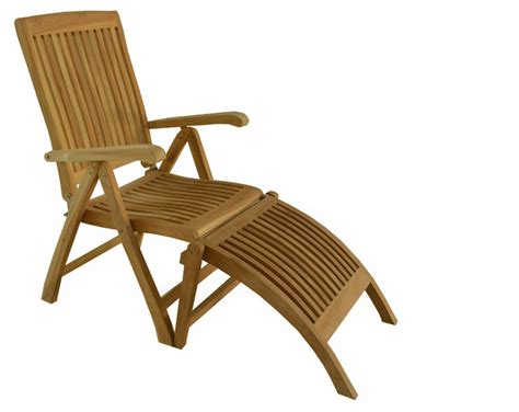 Reclining Lawn Chair With Footrest by Teak Outdoor Dining Chair Marley Reclining Folding Arm