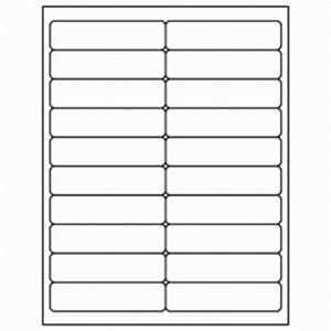 1quot x 4quot white laser inkjet address sheet label ml 2000 With avery labels 1 x 4 20 per sheet