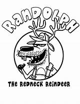 Coloring Pages Redneck Randolph Reindeer Hillbilly Template Horse Christmas Getcolorings Printable Kleurplaten Drew sketch template