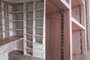 Fabrication Bibliothque Et Bureau D39angle Sur Mesure En Bois
