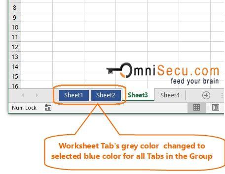change  color  excel worksheet tabs