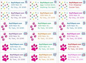 paw prints personalized return address labels custom With address stickers labels free