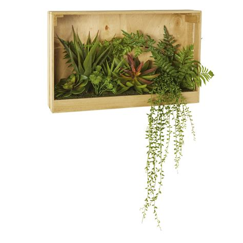 decoration murale plante d 233 co murale en paulownia avec plantes artificielles
