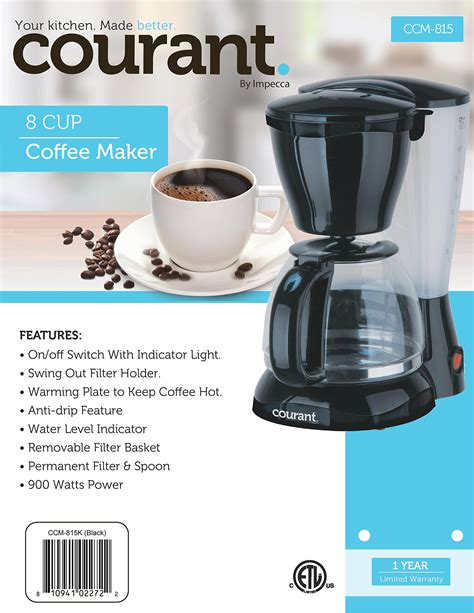 Buy coffee makers microwaves to stoves dishwasher appliances online today. Courant CCM815W 8 Cup Coffee Maker White - Walmart.com - Walmart.com