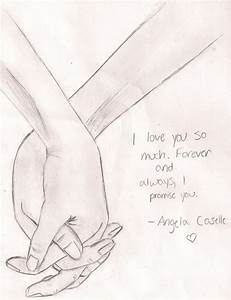 Pencil Drawing of Couple Holding Hands images