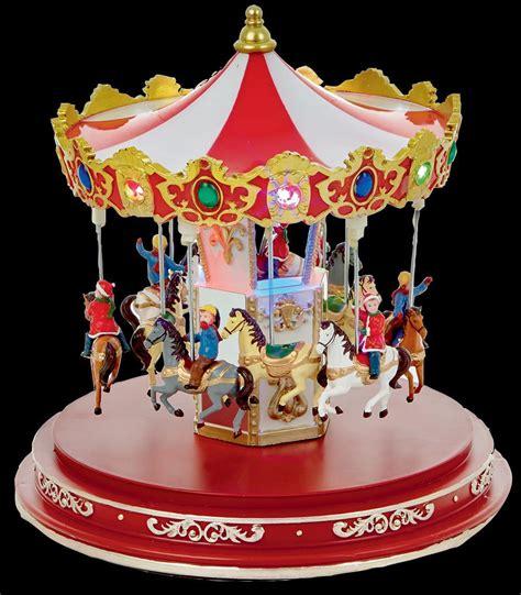 cm animated lit carousel xmas decoration christmas