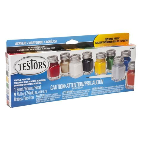 testors 0 25 oz 9 color most popular acrylic paint set 6