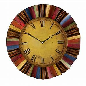 shop boston loft furnishings fiesta analog round indoor With kitchen cabinets lowes with clocks wall art