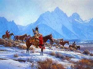Native, American, Western, Indian, Art, Artwork, Painting