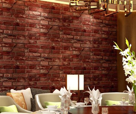 junran  vintage culture brick wallpaper simulation brick