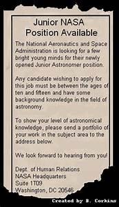 Task - NASA Classifieds: A Space WebQuest
