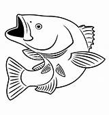 Bass Fish Coloring Pages Sniper Smallmouth Fishing Printable Draw Drawing Drawings Mouth Cod Template Clipart Stencil Colouring Patterns Fishes Stencils sketch template
