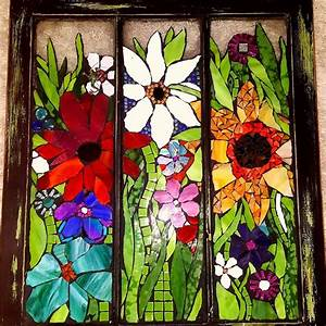 Antique, Window, Stained, Glass, Mosaic