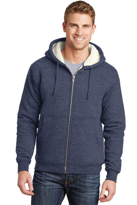 cornerstone heavyweight sherpa lined hooded fleece jacket cs