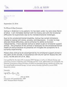 sample esa letter for airlines docoments ojazlink With service dog letter for airline