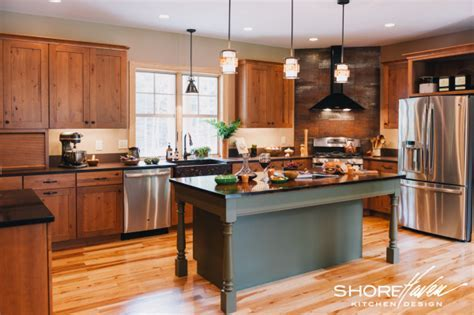 A Kitchen with Wine in Mind   ShoreHaven Kitchens
