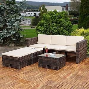 Rattanmöbel Garten Lounge : polyrattan sitzm bel braun sitzgruppe sofa lounge gartenset rattanm bel neu ebay ~ Markanthonyermac.com Haus und Dekorationen