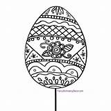 Stake Egg Easter Round Collection sketch template