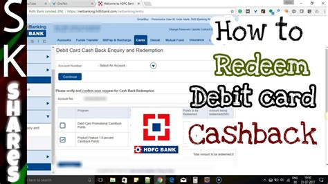 With the tyndall rewards program, you earn rewards points every time you use your debit card for qualifying purchases. How to redeem HDFC debit card cashback points through HDFC Netbanking - YouTube