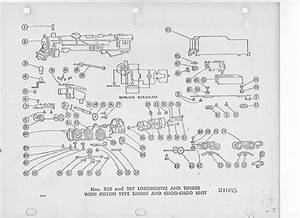 American Flyer Locomotive 283  U0026 287 Parts List  U0026 Diagram