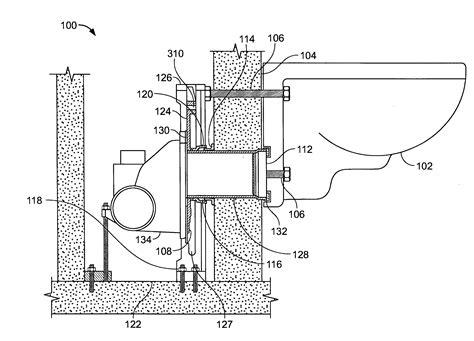 toilet carrier dimensions patent us20040222628 toilet carrier google patents